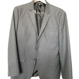 21 Men 38S Grey Stripped Blazer